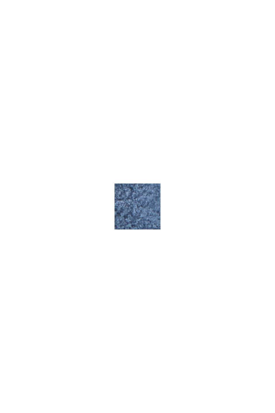 Z recyklingu: żakiet z aksamitnego materiału przypominającego skórę welurową, GREY BLUE, swatch