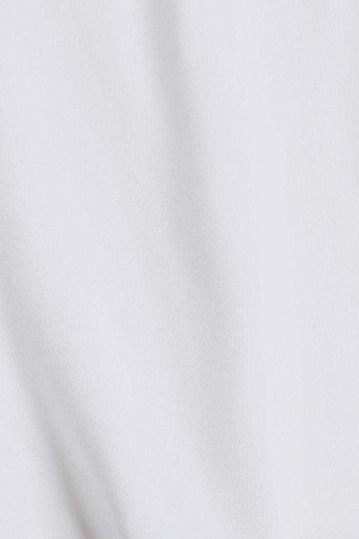 Short-sleeved bomber jacket made of a hemp/TENCEL™ blend, WHITE, detail image number 4