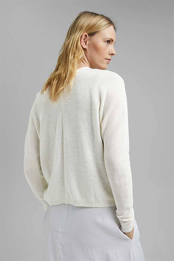 Cardigan with a drawstring, OFF WHITE, detail image number 3