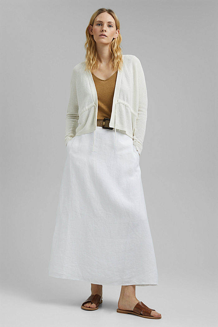 Cardigan with a drawstring, OFF WHITE, detail image number 1