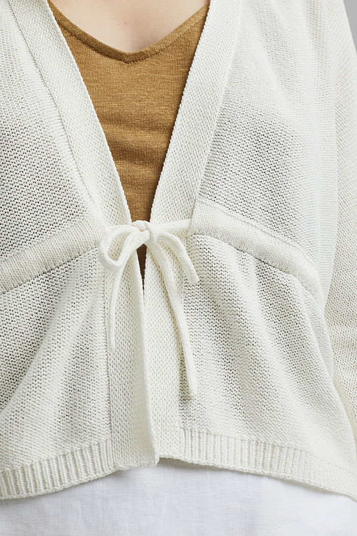 Cardigan with a drawstring, OFF WHITE, detail image number 2