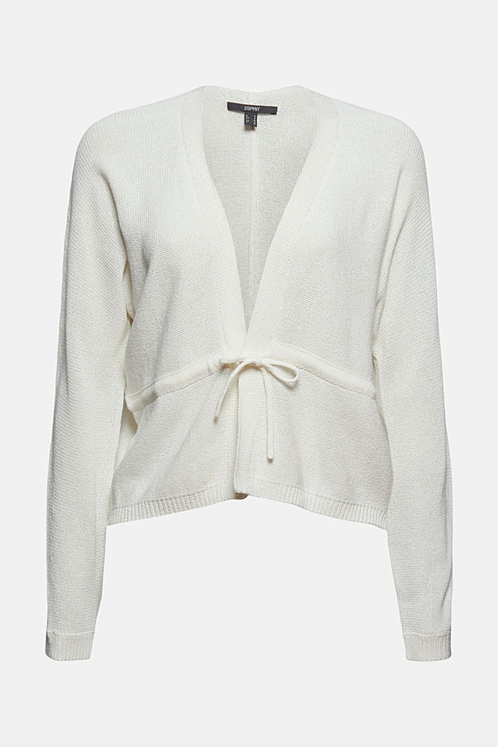 Cardigan with a drawstring, OFF WHITE, detail image number 6
