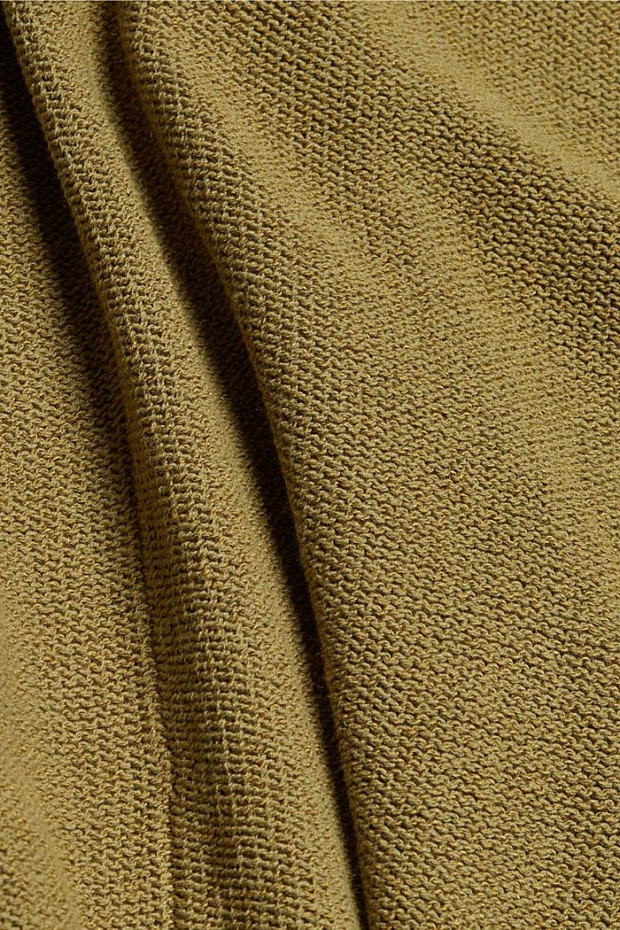 Cardigan mit Kordelzug, OLIVE, detail image number 4