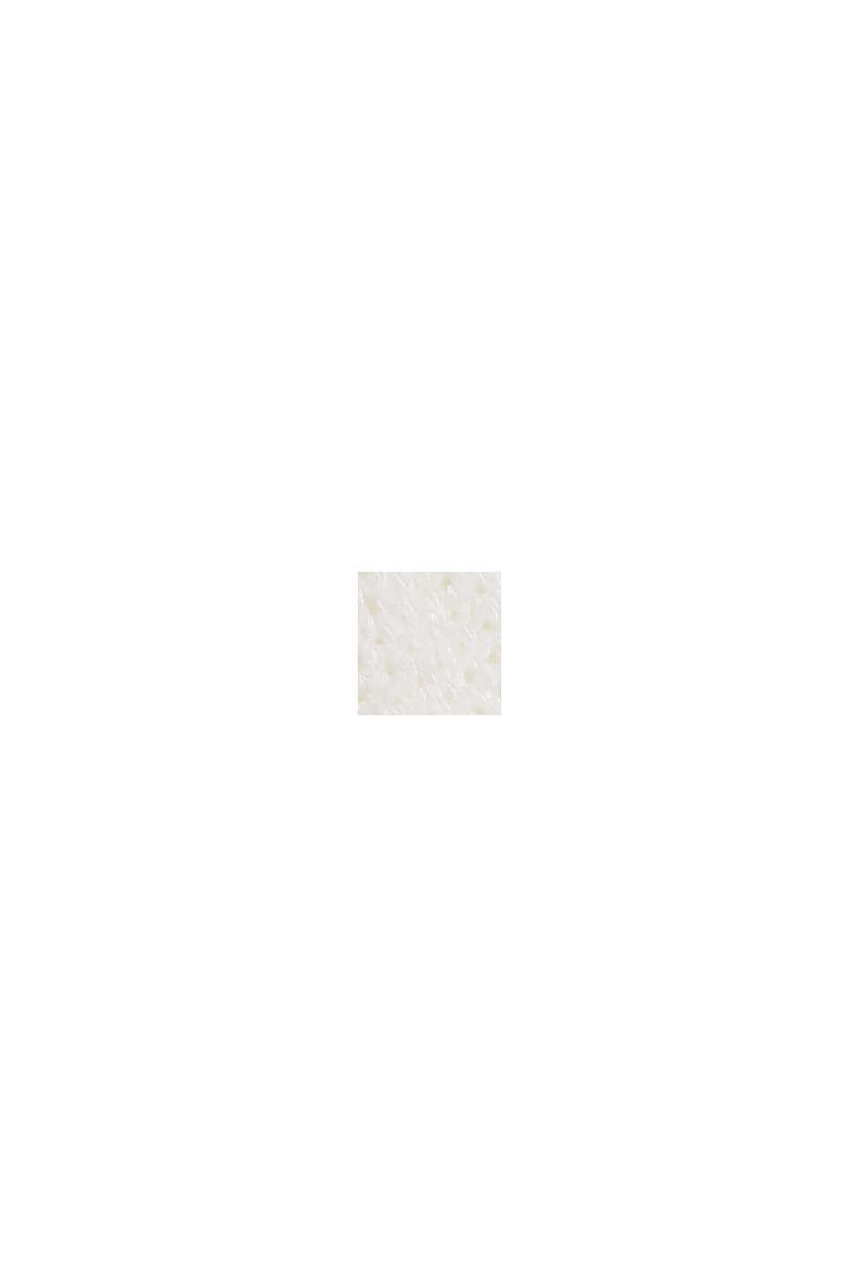 Ajour-Pullover aus Baumwoll-Mix, OFF WHITE, swatch