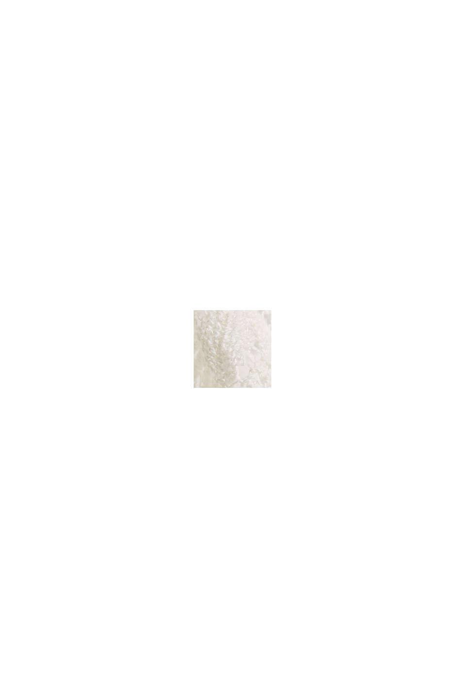 Con lino: top de punto calado, OFF WHITE, swatch