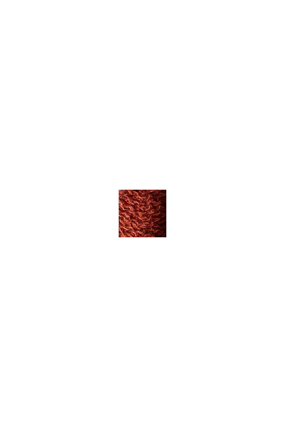 Con lino: top de punto calado, TERRACOTTA, swatch