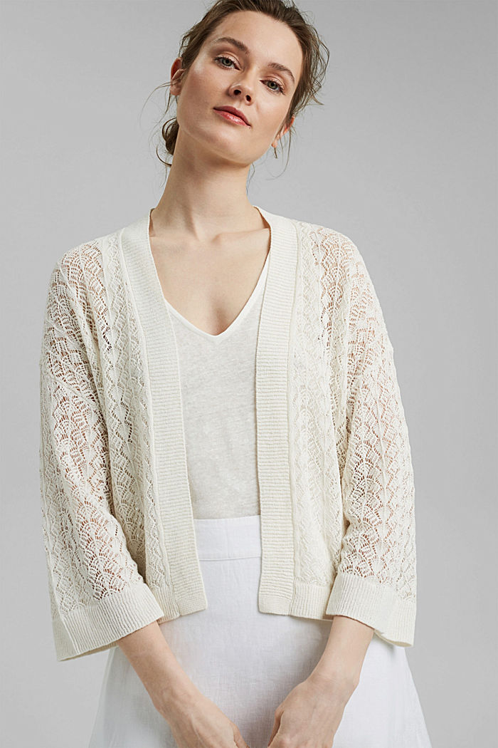 Sweaters cardigan, OFF WHITE, detail image number 0