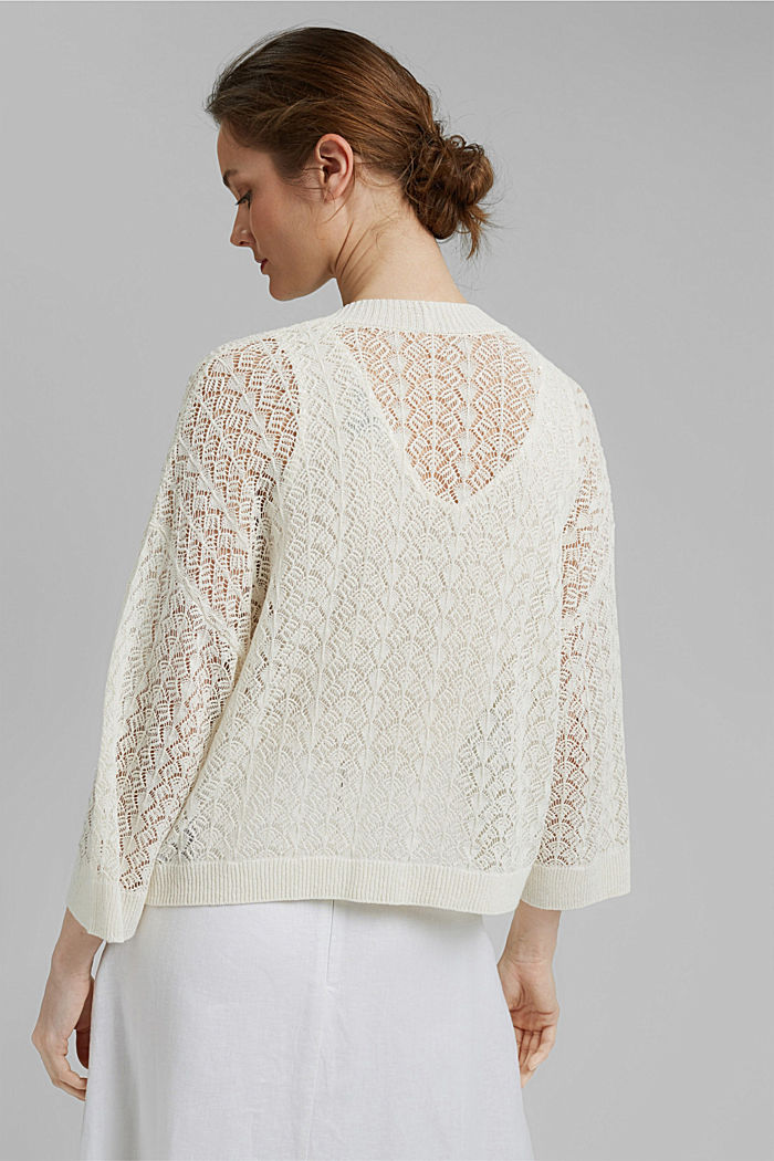 Sweaters cardigan, OFF WHITE, detail image number 3