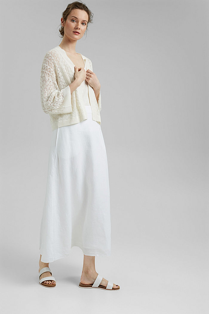 Sweaters cardigan, OFF WHITE, detail image number 1