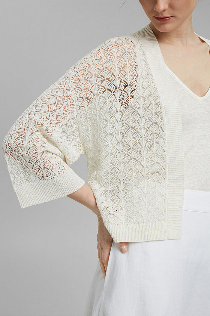 Sweaters cardigan, OFF WHITE, detail image number 2