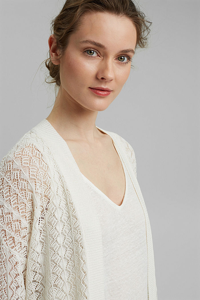 Sweaters cardigan, OFF WHITE, detail image number 5