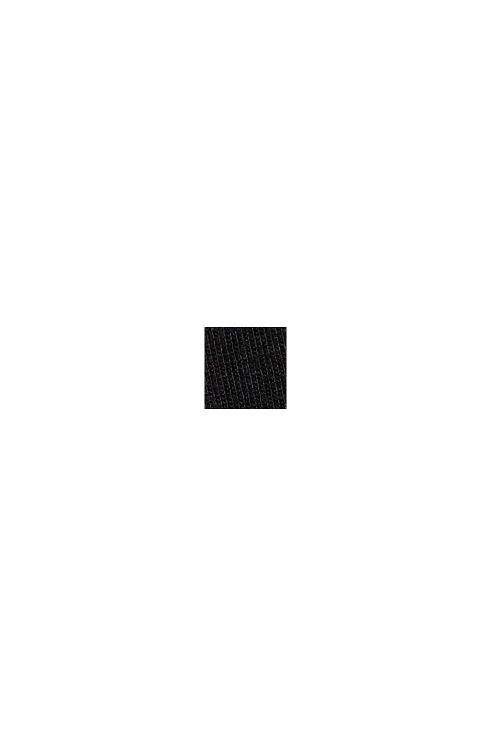 Haut en jersey à motif dévoré, BLACK, swatch