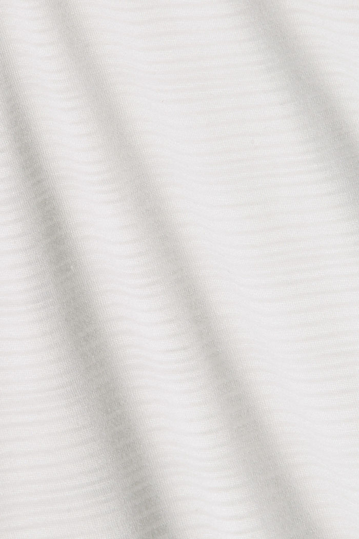 Jersey top with a burnt-out pattern, OFF WHITE, detail image number 4