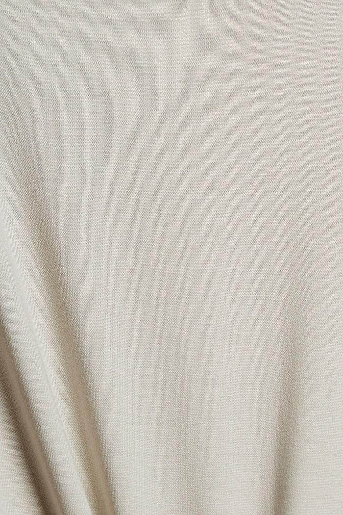 T-Shirt aus LENZING™ ECOVERO™, LIGHT BEIGE, detail image number 4