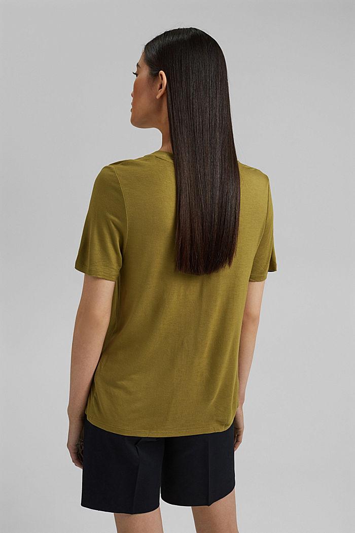 T-shirt en LENZING™ ECOVERO™, OLIVE, detail image number 3