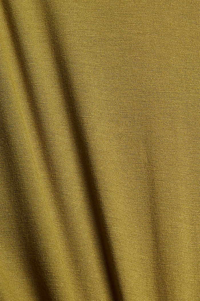 T-shirt en LENZING™ ECOVERO™, OLIVE, detail image number 4