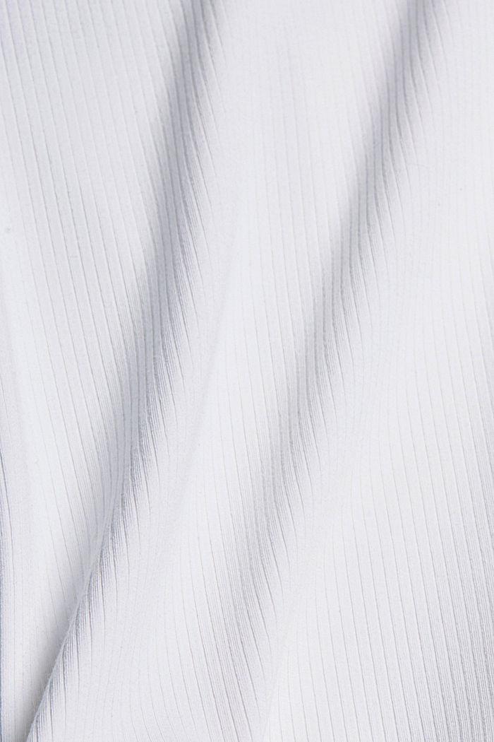 TENCEL™-sekoitetta: pehmeä ribbipaita, WHITE, detail image number 4