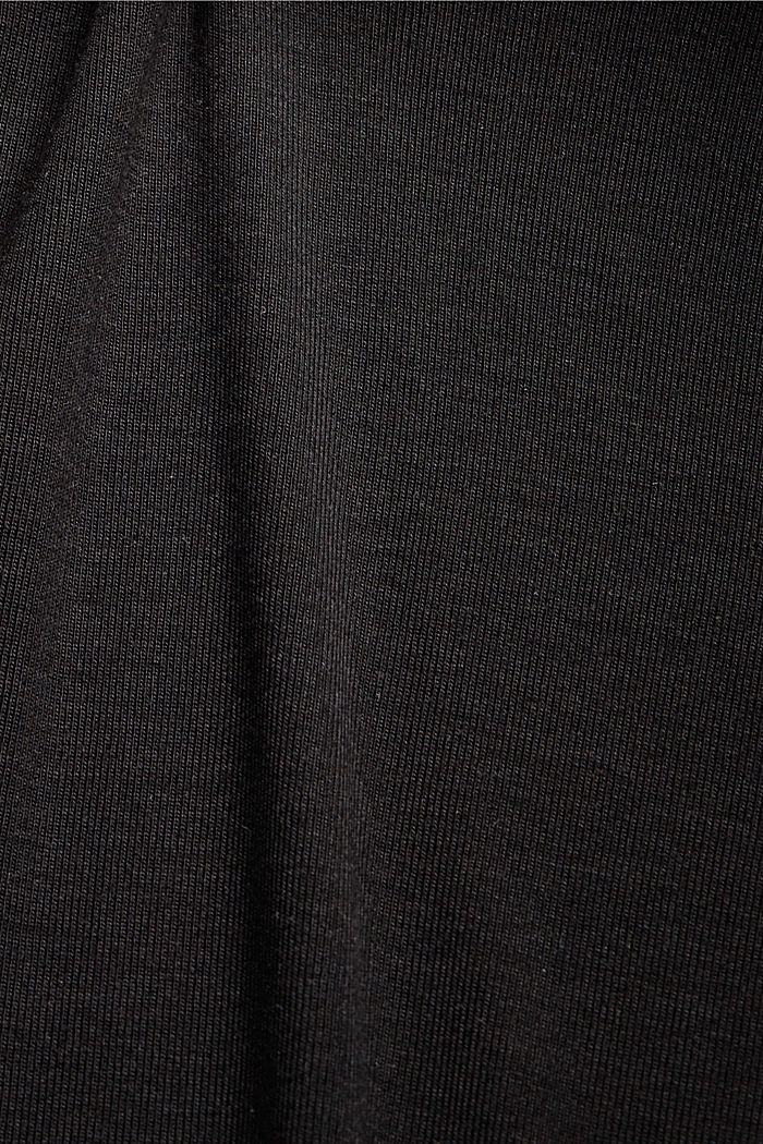 Knitted top made of TENCEL™ lyocell, BLACK, detail image number 4