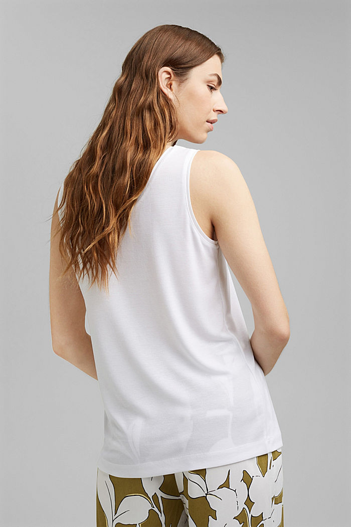 Knitted top made of TENCEL™ lyocell, WHITE, detail image number 3