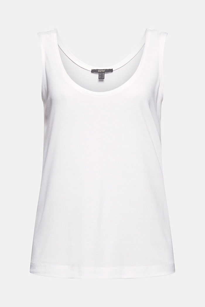 Knitted top made of TENCEL™ lyocell, WHITE, detail image number 6