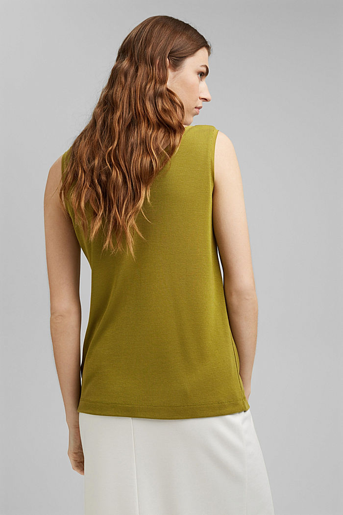 Knitted top made of TENCEL™ lyocell, OLIVE, detail image number 3