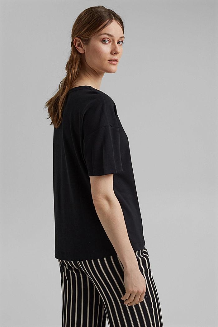 T-shirt oversize à teneur en LENZING™ ECOVERO™, BLACK, detail image number 3
