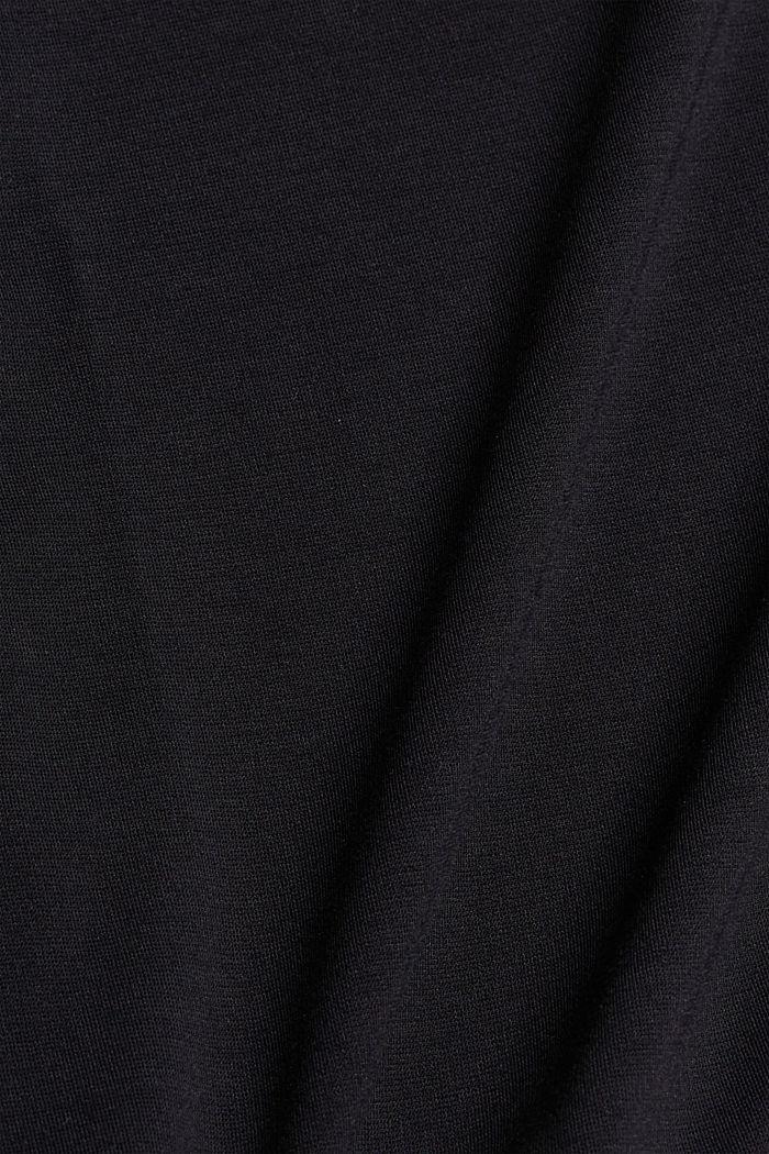 T-shirt oversize à teneur en LENZING™ ECOVERO™, BLACK, detail image number 4