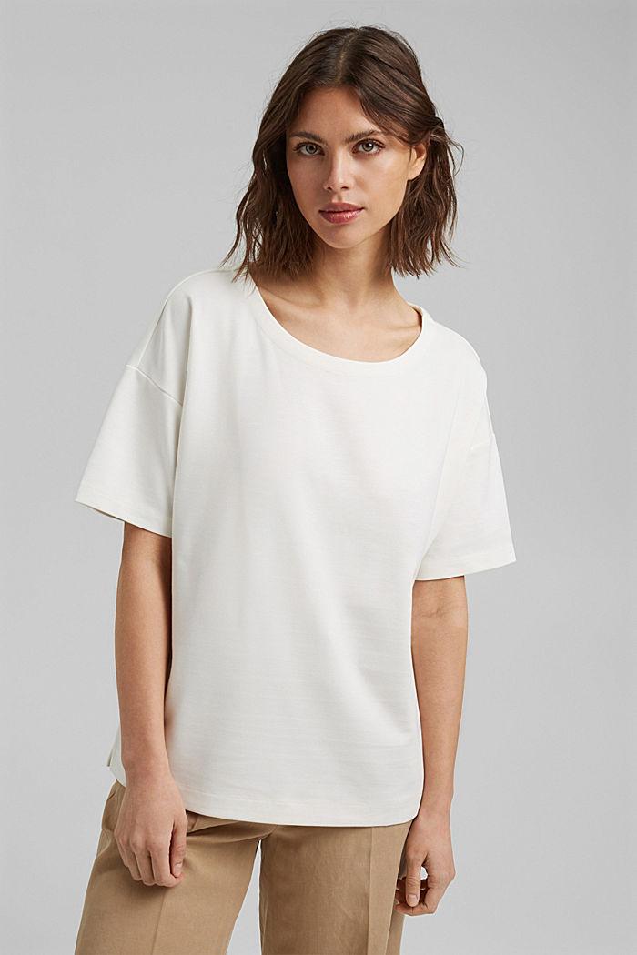 T-shirt oversize à teneur en LENZING™ ECOVERO™, OFF WHITE, detail image number 0