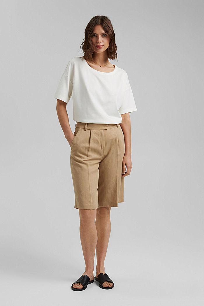 T-shirt oversize à teneur en LENZING™ ECOVERO™, OFF WHITE, detail image number 1