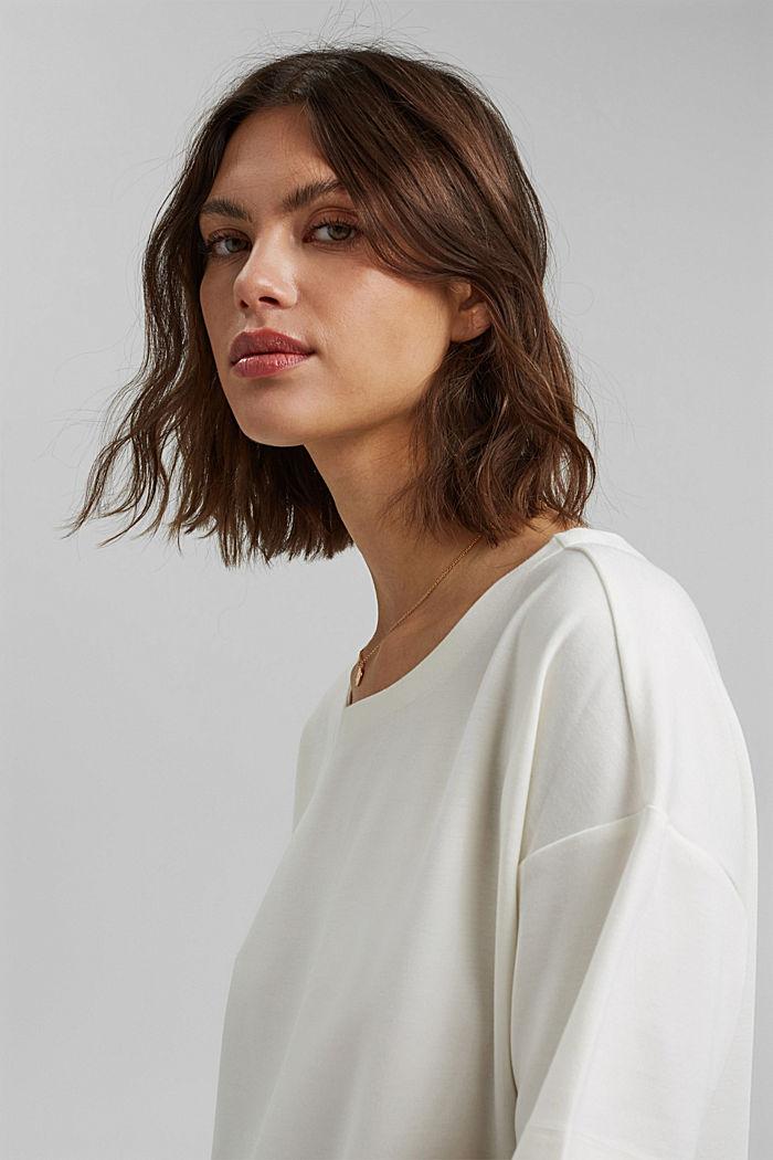 T-shirt oversize à teneur en LENZING™ ECOVERO™, OFF WHITE, detail image number 5