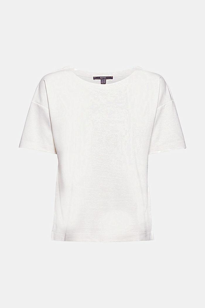 T-shirt oversize à teneur en LENZING™ ECOVERO™, OFF WHITE, detail image number 6