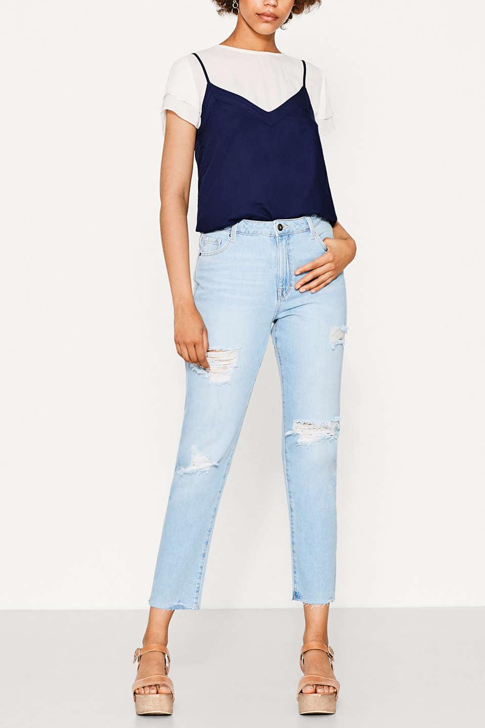 edc 5 pocket jeans im destroyed look im online shop kaufen. Black Bedroom Furniture Sets. Home Design Ideas