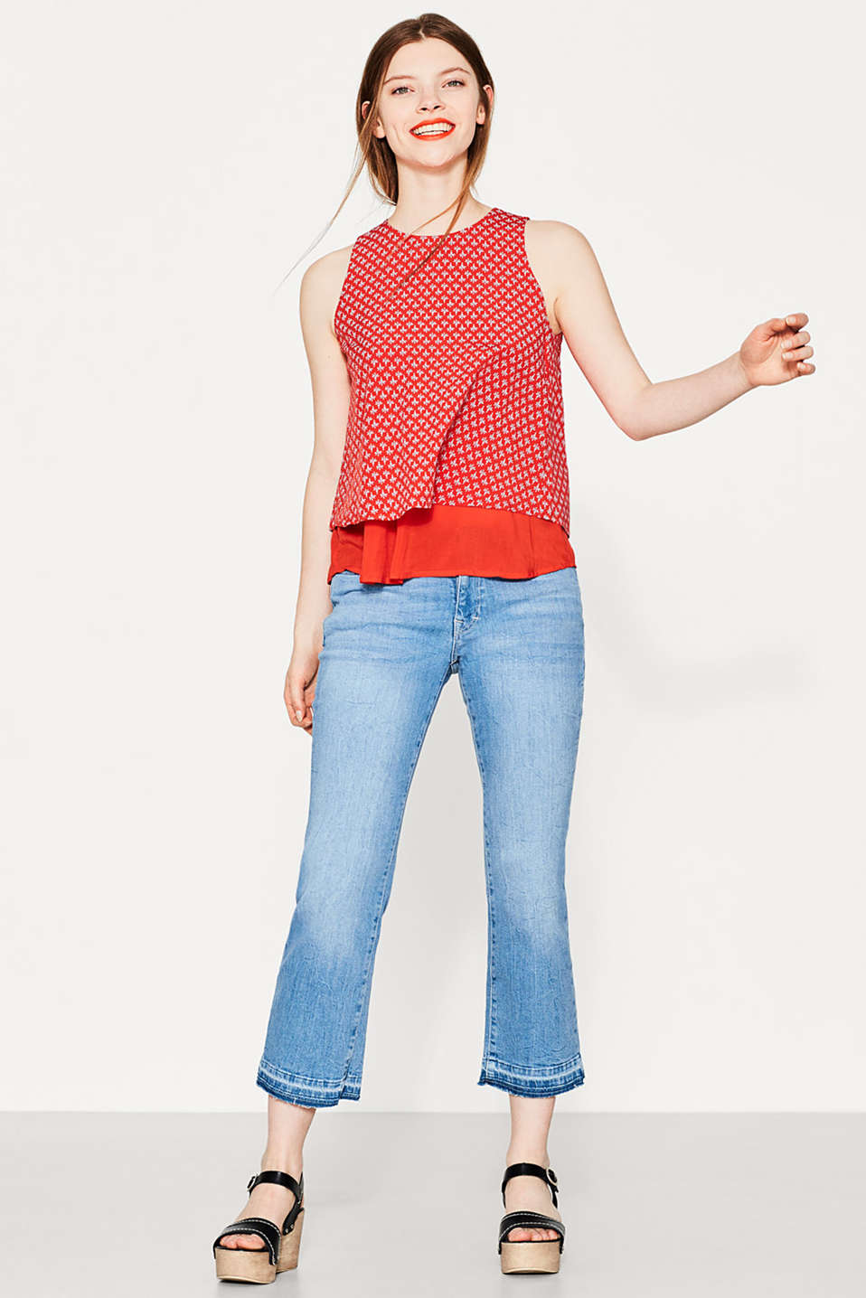 edc - Delicate blouse top in a layered look