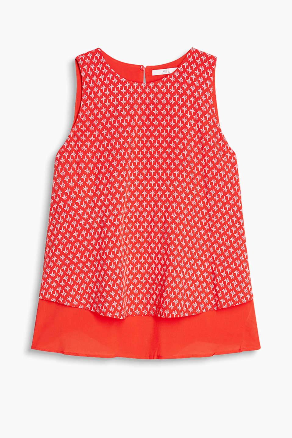 with a polka dot top and plain coloured layering.