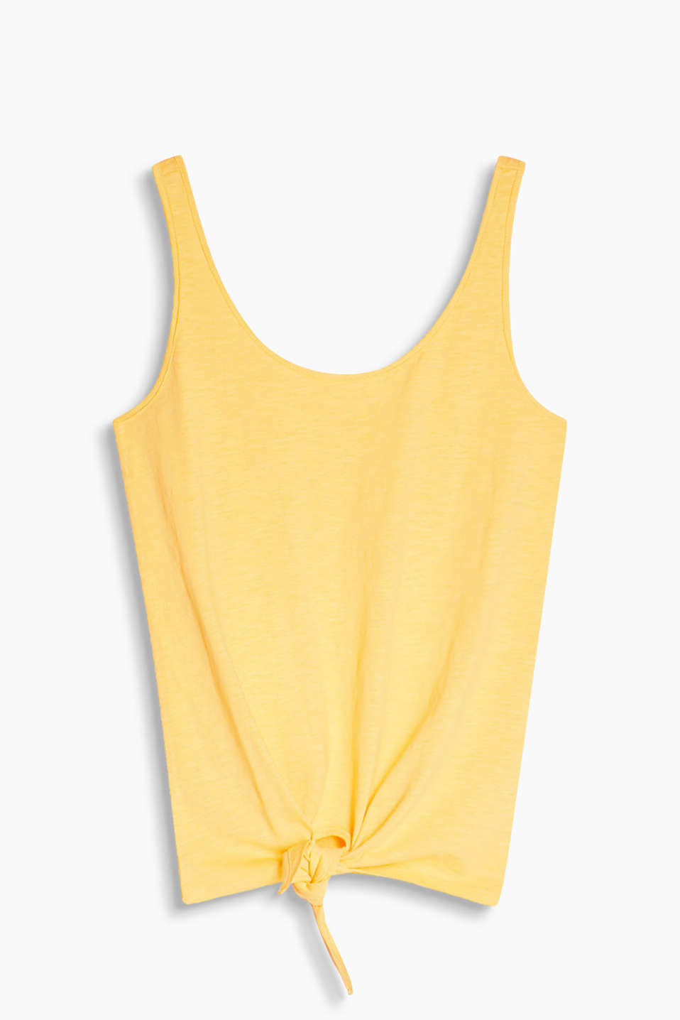 Soft vest with a knot detail and a low U-neckline