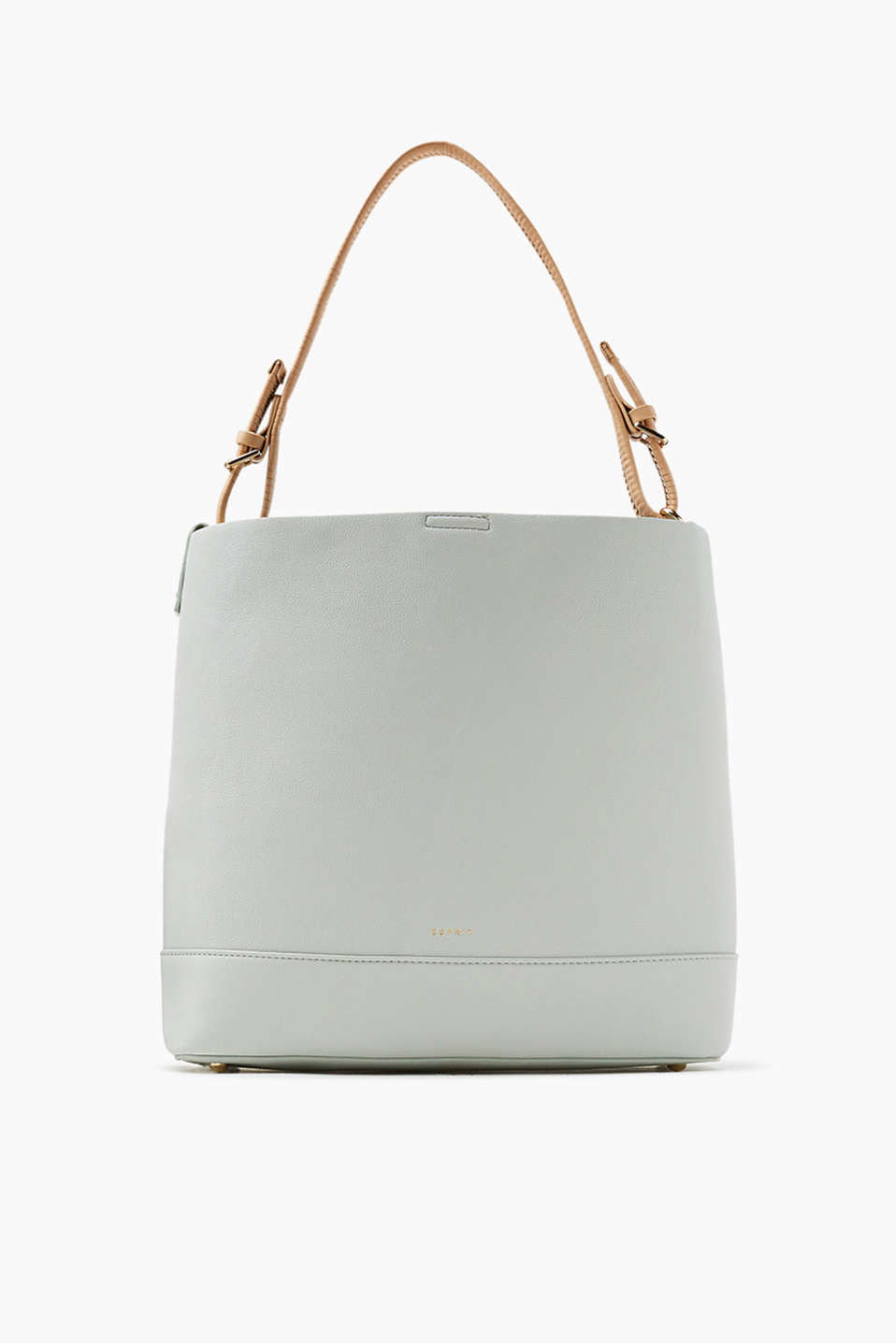 Hobo bag in authentically grained faux leather with an additional detachable shoulder strap