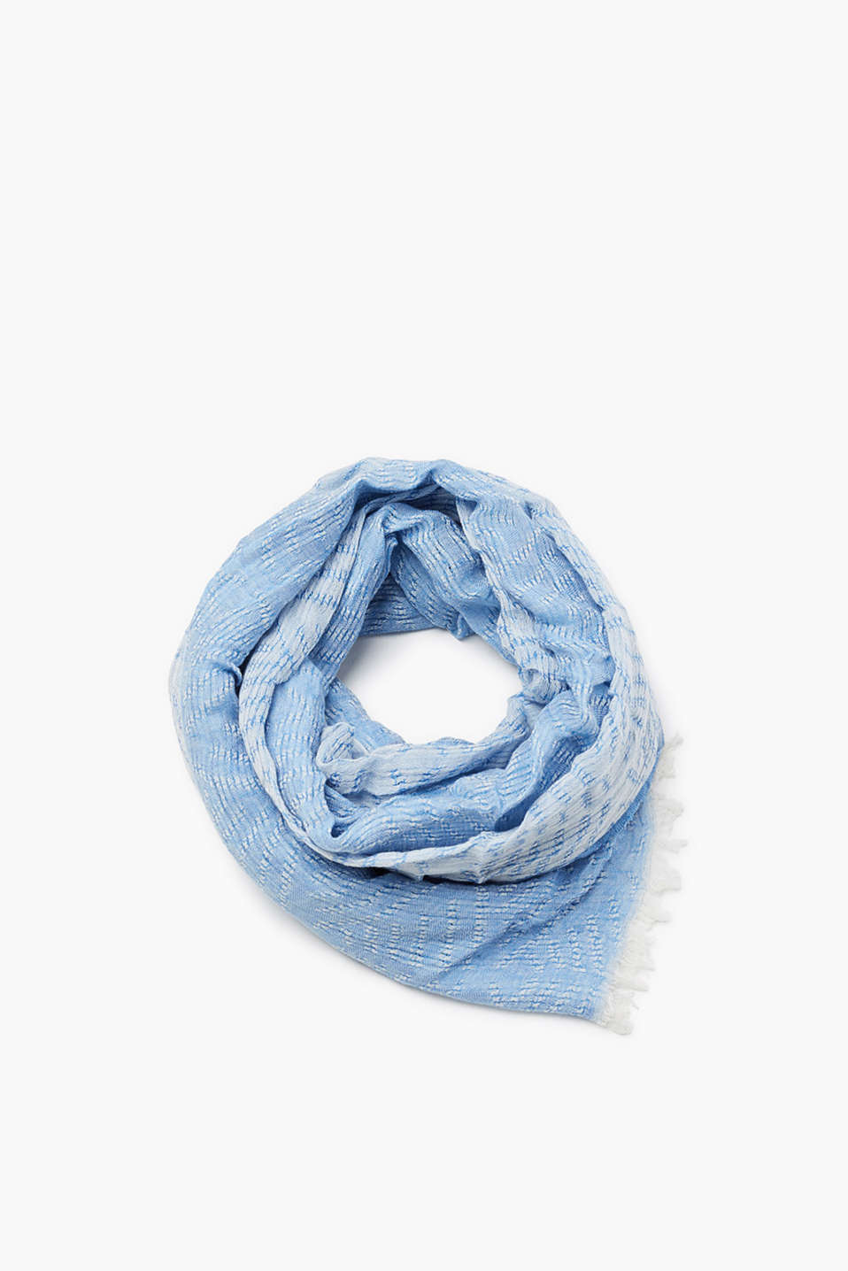 Bi-colour scarf with a crushed finish