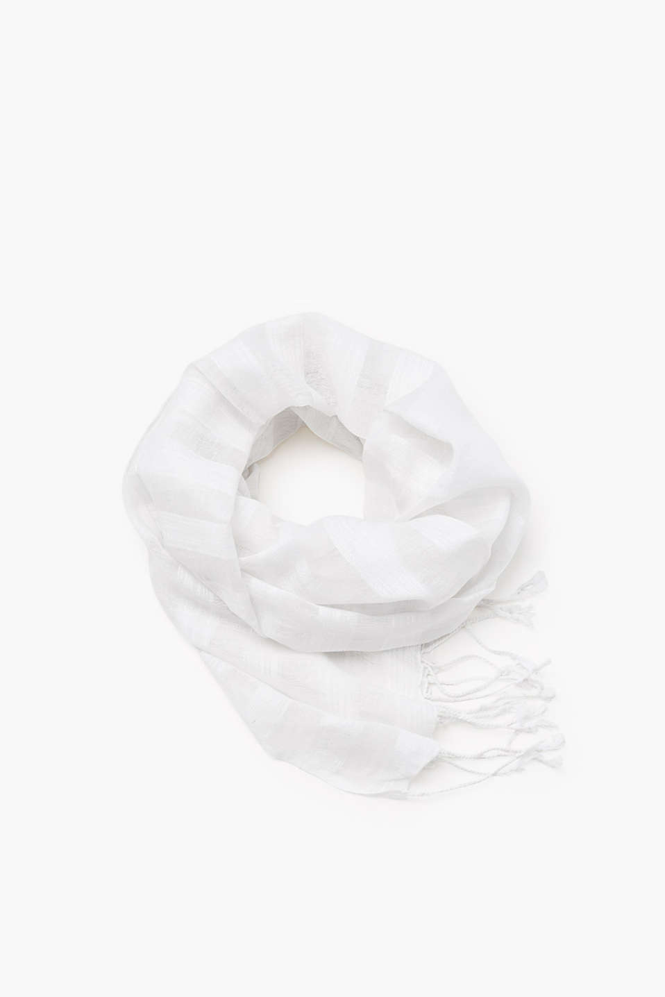 In blended cotton: scarf in a semi-sheer look