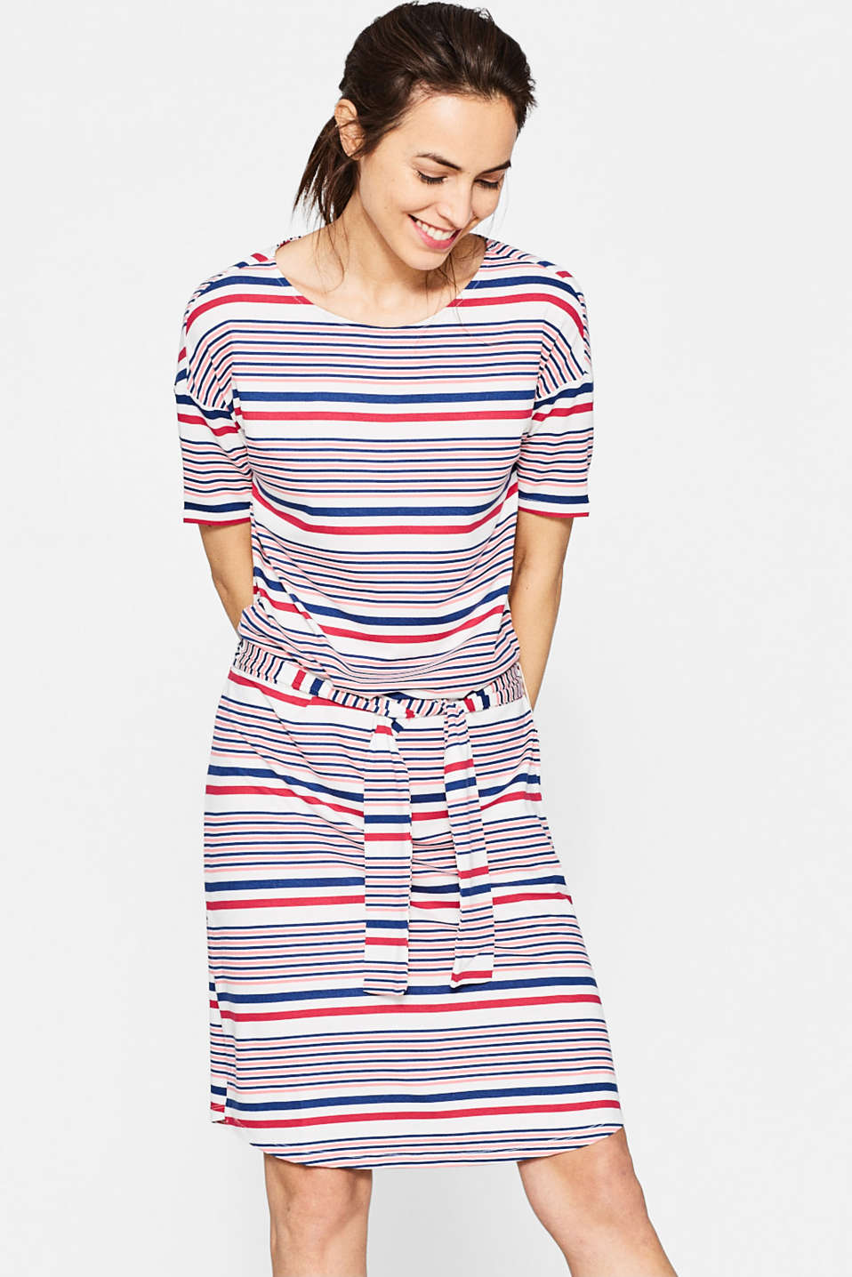 Floaty stretch jersey midi dress