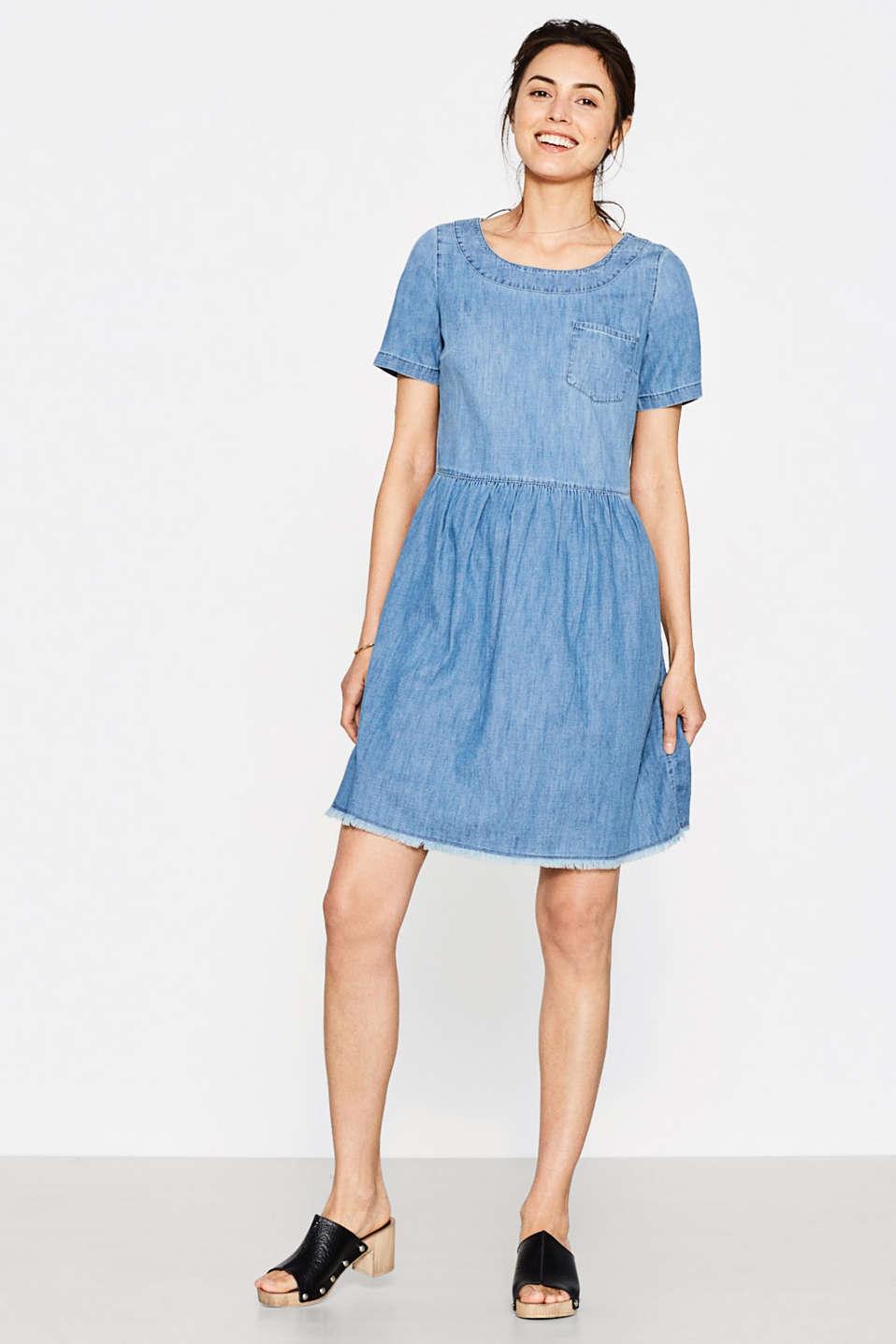 esprit robe en jean franges 100 coton acheter sur la boutique en ligne. Black Bedroom Furniture Sets. Home Design Ideas