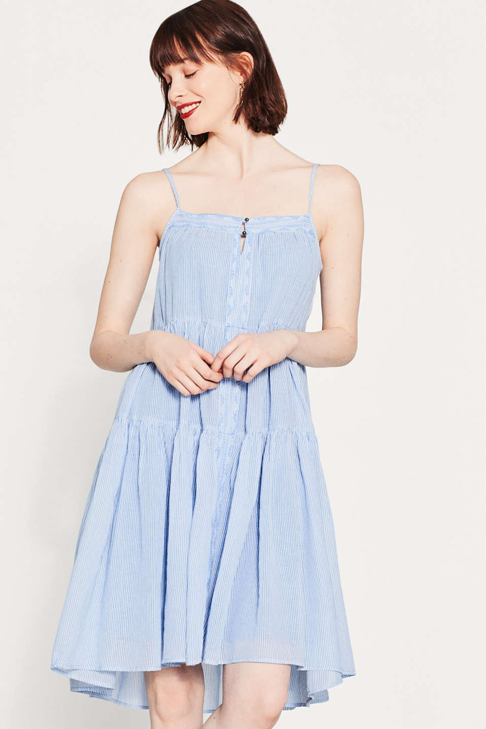 Floaty A-line dress in 100% cotton
