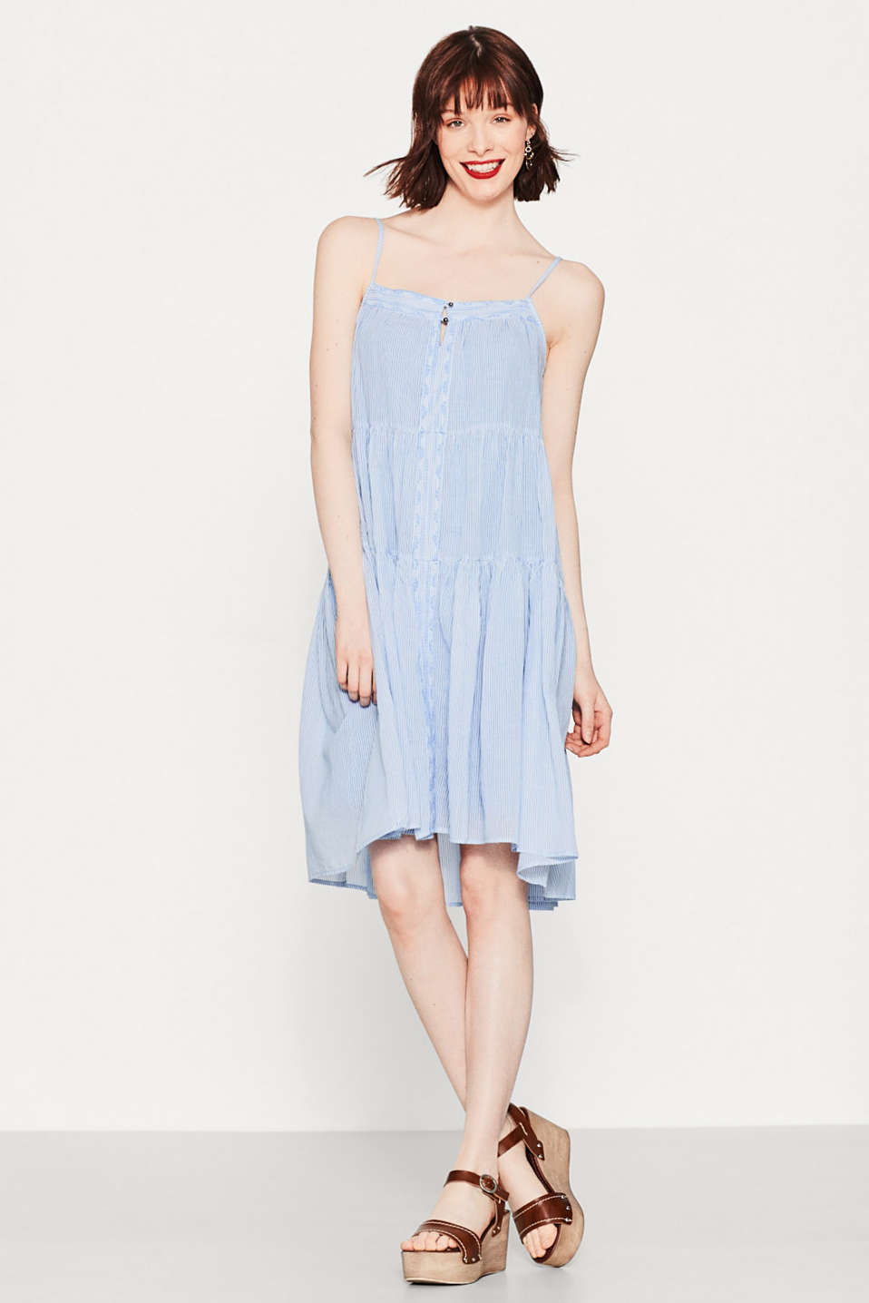 Esprit - Floaty A-line dress in 100% cotton