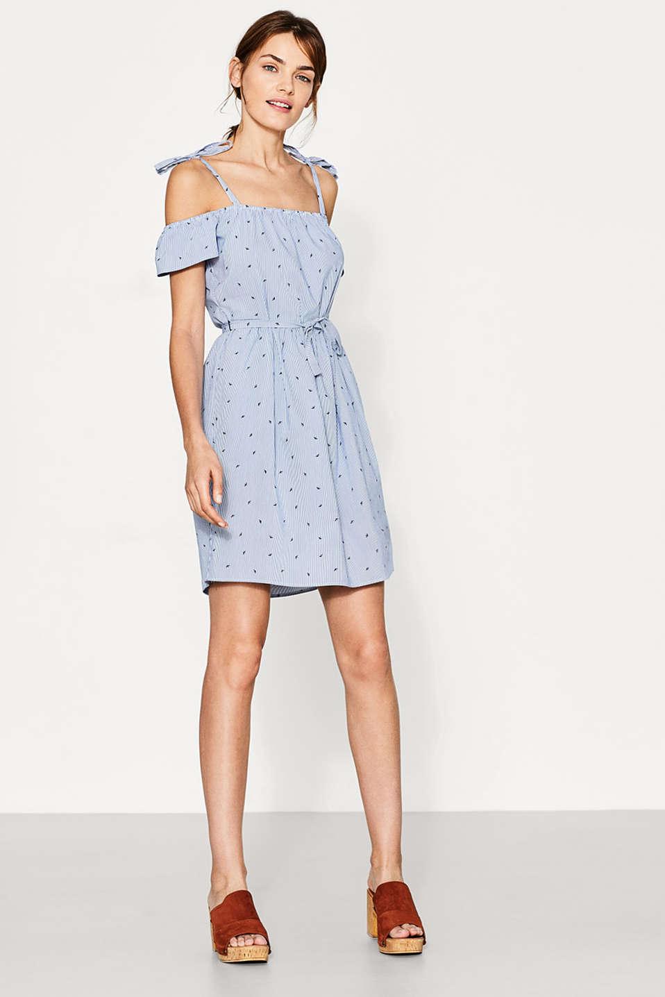 Esprit - Offshoulder-Kleid im Muster-Mix im Online Shop kaufen
