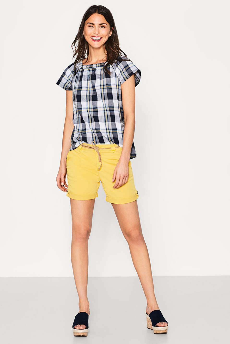 Esprit - Airy check blouse in 100% cotton