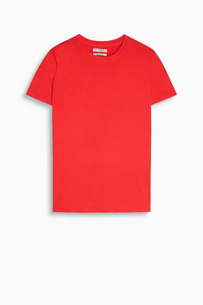Rundhals-Shirt aus reinem Baumwolljersey