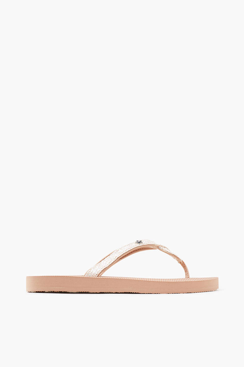City slip slops with pretty woven straps