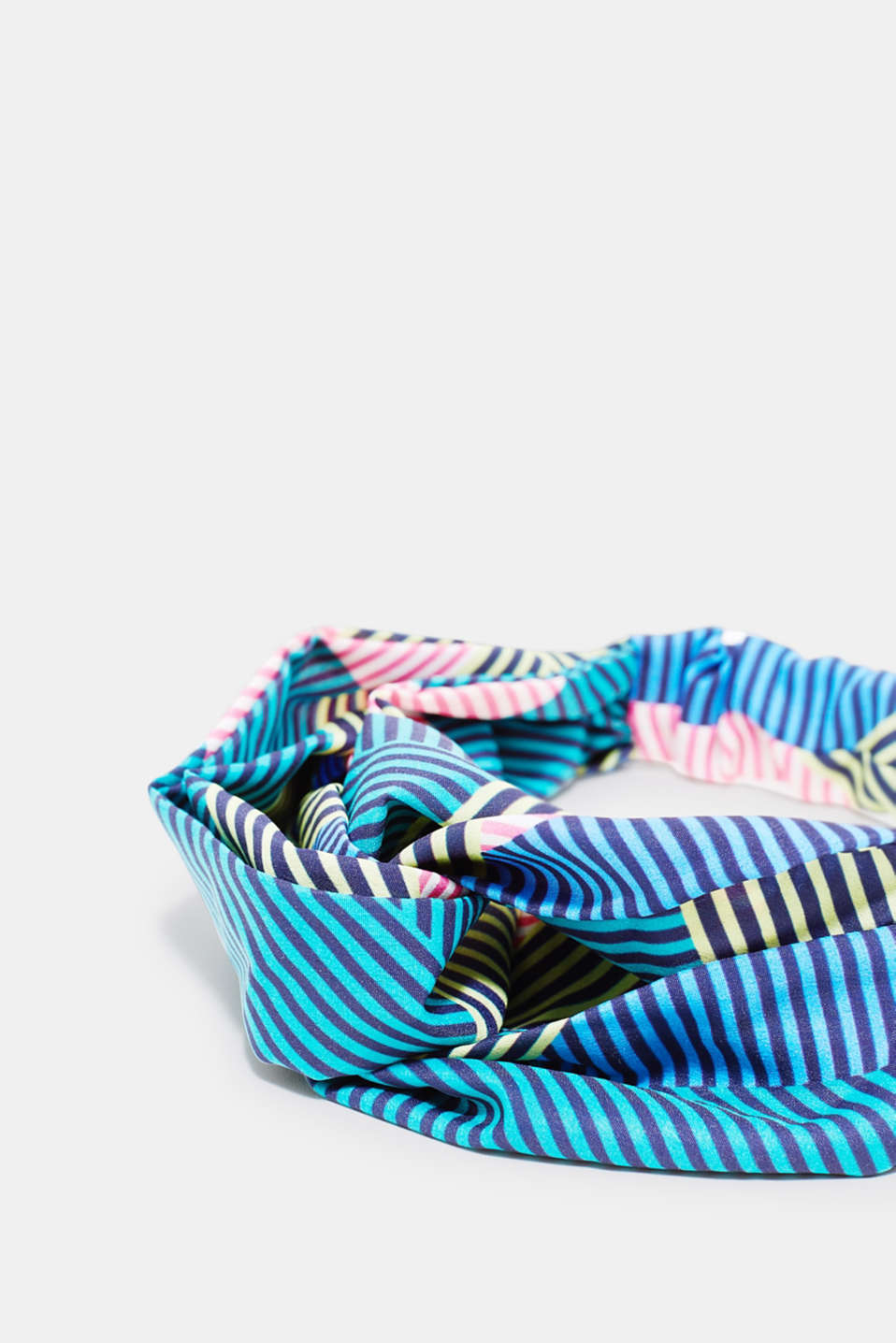 Headband with knot details and colourful stripes