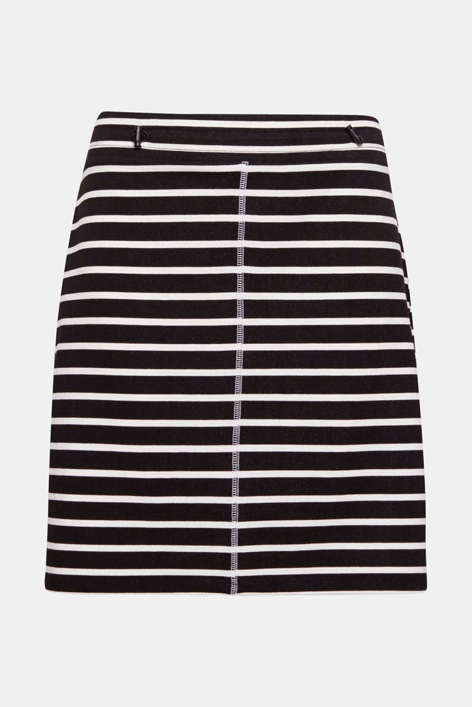 A great essential: this soft sweatshirt skirt is defined by its exceptional comfort, sporty details and classic striped look.