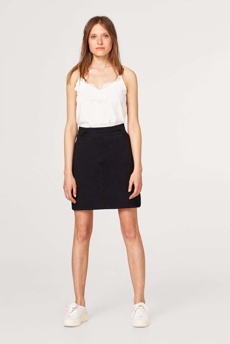 edc - Comfy skirt in sweatshirt fabric with an elasticated waistband