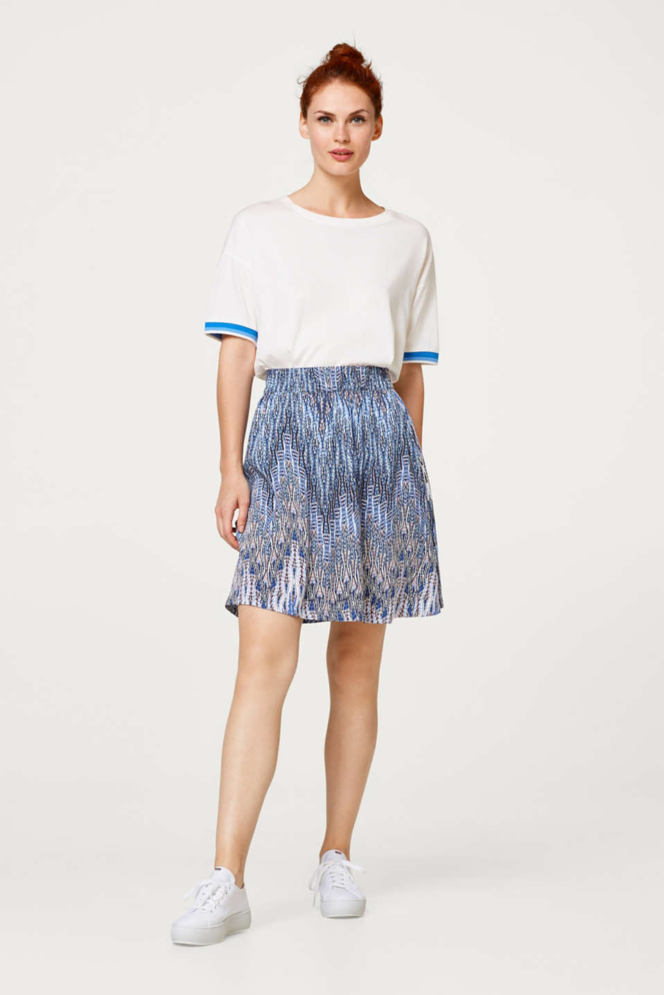 edc - Delicate A-line skirt with a tribal print